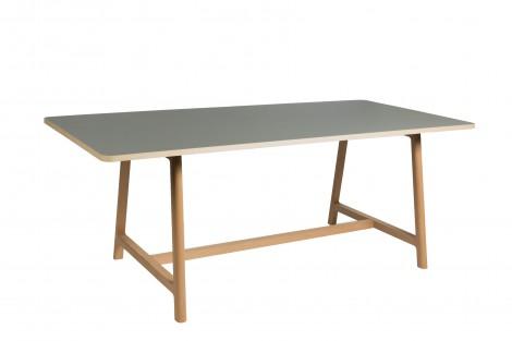 WRONG for HAY Frame Tisch - Buche geseift/Linoleum grau - 200 x 90 cm