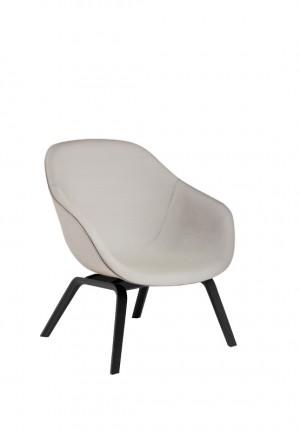 HAY About A Lounge Chair Low AAL 83 - Steelcut Trio 105 - Esche schwarz gebeizt