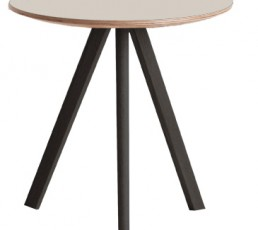 HAY Copenhague Table 20 Couchtisch - Gestell schwarz gebeizt - Tischplatte Linoleum creme