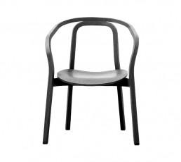 miniforms Evoque Stuhl - schwarz gebeiztes Holz