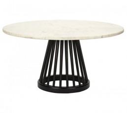 Tom Dixon Fan Tisch - Birke - schwarz - Marmor