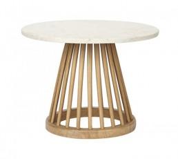Tom Dixon Fan Tisch - Eiche - natur - Marmor