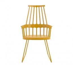 Kartell Comback Stuhl mit Kufen - gelb